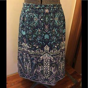 Talbots print skirt.